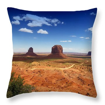 Monument Valley Utah Throw Pillow by James Bethanis