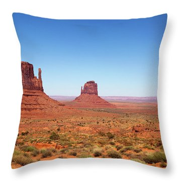 Monument Valley Utah The Mittens Throw Pillow