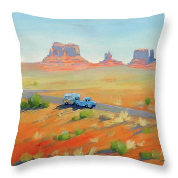 Monument Valley Vintage Throw Pillow