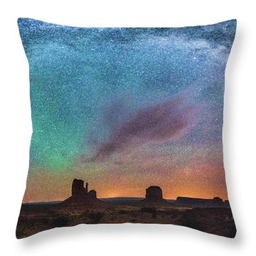 Monument Vally Dreams Throw Pillow