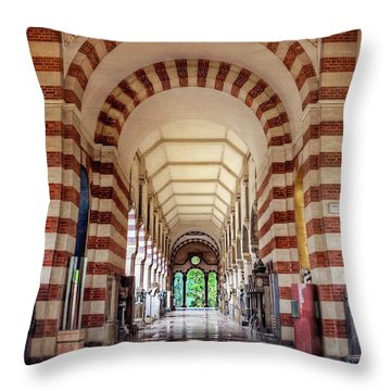 Throw Pillow featuring the photograph Monumental Cemetery In Milan Italy  by Carol Japp