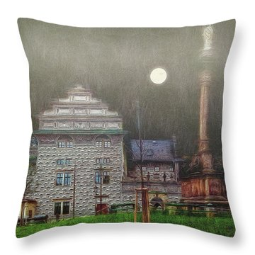 Monumental- Prague Throw Pillow