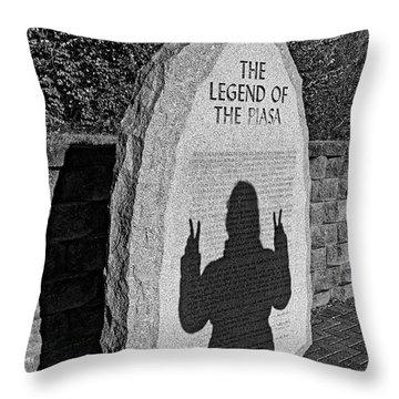 Monumental Shadows Peace Out Throw Pillow