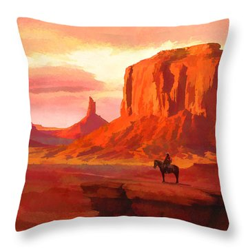 Monumental Sunset Throw Pillow