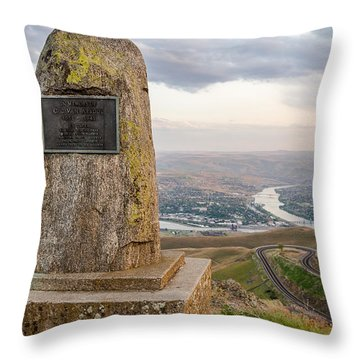 Monumental View Throw Pillow by Brad Stinson