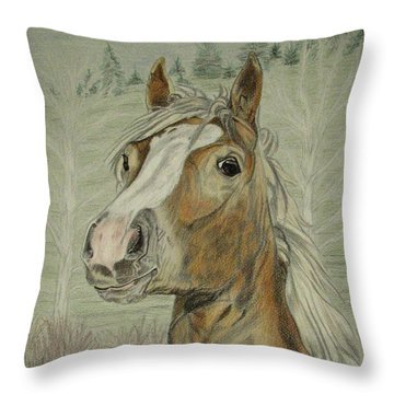 Mony Throw Pillow by Melita Safran