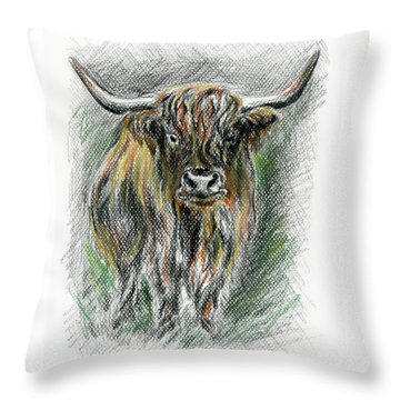 Moo Throw Pillow by MM Anderson