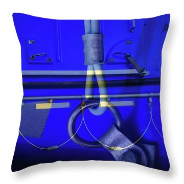 Throw Pillow featuring the photograph Mood Blue by Wayne Sherriff