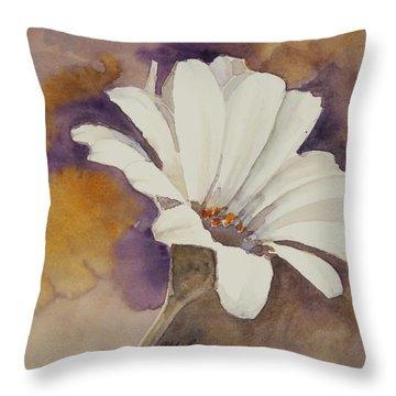 Mood Flower Throw Pillow by Gretchen Bjornson