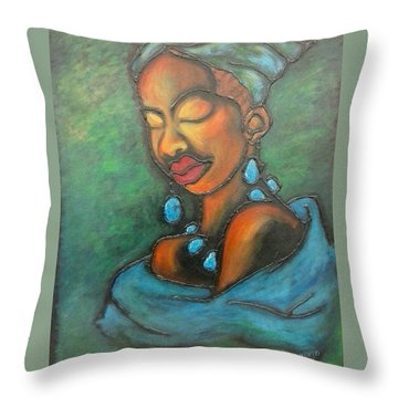 Topaz Throw Pillow