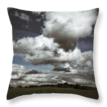 Moodiness In The Clouds Throw Pillow by Karen Stahlros