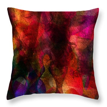 Moods In Abstract Throw Pillow