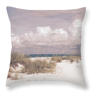 Throw Pillow featuring the photograph Anna Maria Island Moods Of June by Jean Marie Maggi