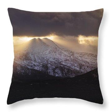Moody Ben Lomond Throw Pillow
