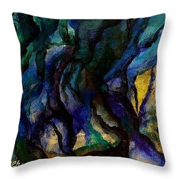 Moody Bleu Throw Pillow
