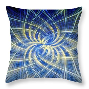 Throw Pillow featuring the digital art Moody Blue by Carolyn Marshall