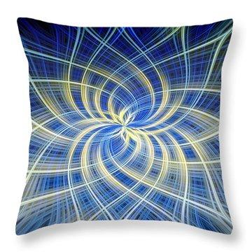 Moody Blue Throw Pillow by Carolyn Marshall