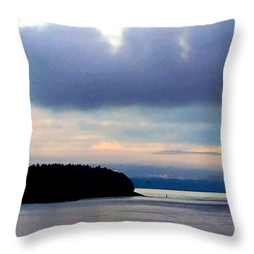 Moody Blue Throw Pillow