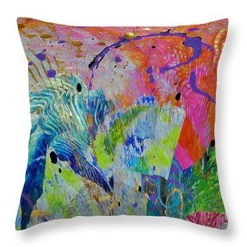 Throw Pillow featuring the photograph Moody Blues2 by Kate Word