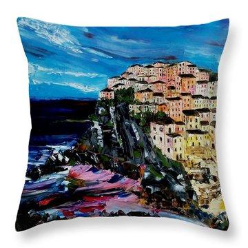 Moody Dusk In Italy Throw Pillow