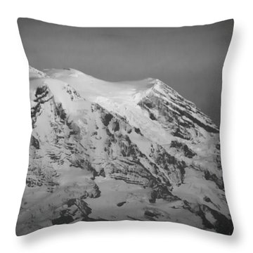 Throw Pillow featuring the photograph Moody Mt. Rainier by Erin Kohlenberg