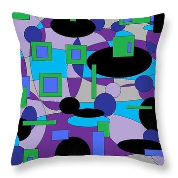 Moody Purple Throw Pillow