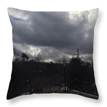 Moody Skies Throw Pillow