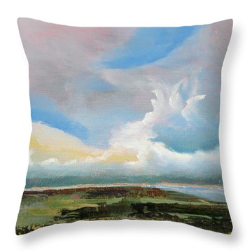 Moody Skies Throw Pillow