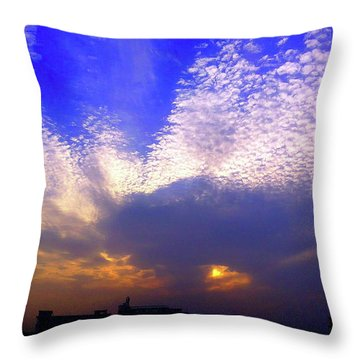Moody Sky Throw Pillow