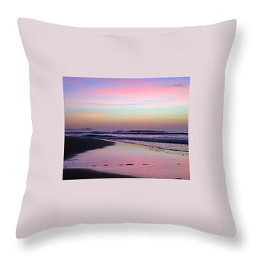 Moody Sunrise Throw Pillow by Betty Buller Whitehead