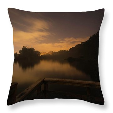 Moody View Throw Pillow