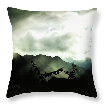 Moody Weather Throw Pillow by Mimulux patricia no No