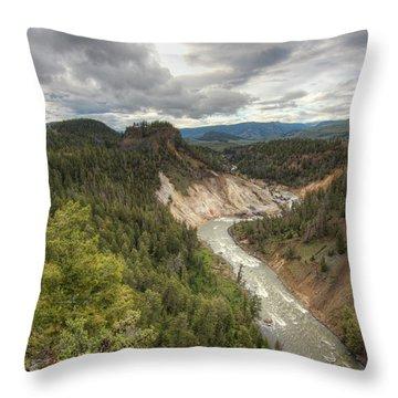 Moody Yellowstone Throw Pillow