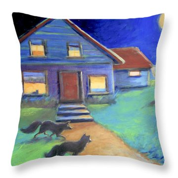 Moolight Laundry Throw Pillow