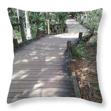 Mooloolaba Path Throw Pillow