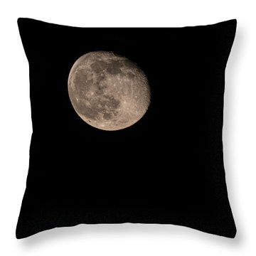 Throw Pillow featuring the photograph Moon 4-13-2017 by Thomas Young