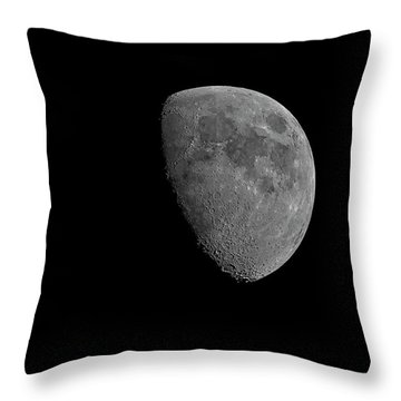 Throw Pillow featuring the photograph Moon 67 Percent Fr23 by Mark Myhaver