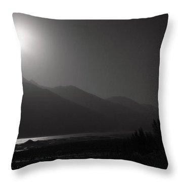 Moon Above Pyandzh Valley Throw Pillow by Konstantin Dikovsky