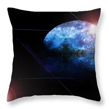 Moon All Lit Up Throw Pillow