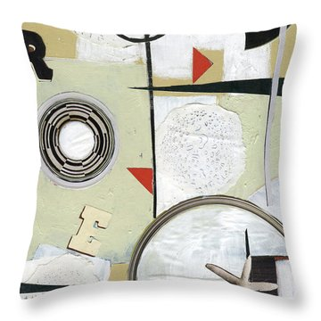 Throw Pillow featuring the painting Moon And Stars In Space by Michal Mitak Mahgerefteh