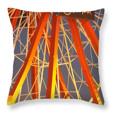 Moon And The Ferris Wheel Throw Pillow