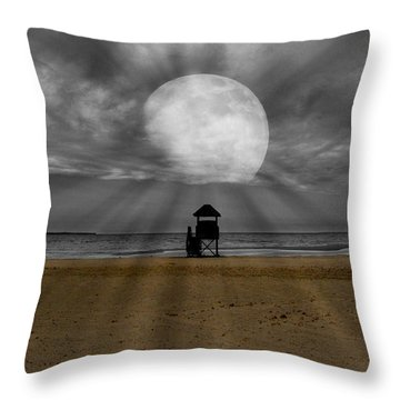 Moon Beams Throw Pillow