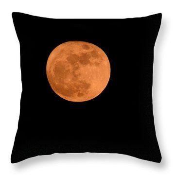 Throw Pillow featuring the photograph Moon Before Yule  by Bradford Martin