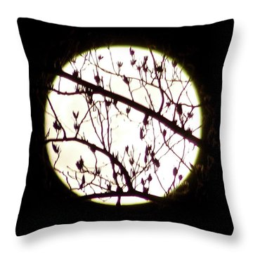 Moon Branches Throw Pillow