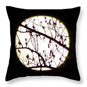 Moon Branches Throw Pillow