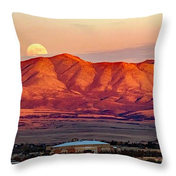 Moon Coming Up Behind The Mingus Throw Pillow