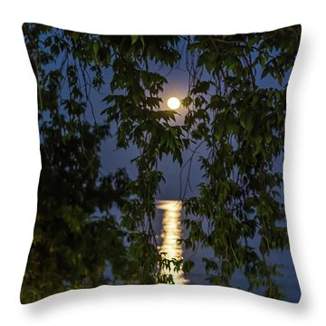 Moon Curtain Throw Pillow