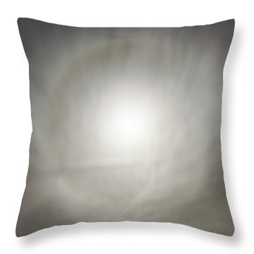 Moon Dog Throw Pillow by Leland D Howard