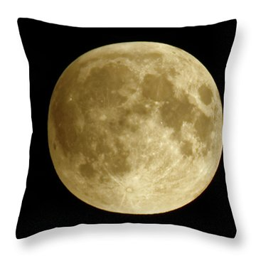 Moon During Eclipse Throw Pillow