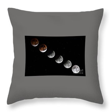 Moon Eclipse 2015 Throw Pillow